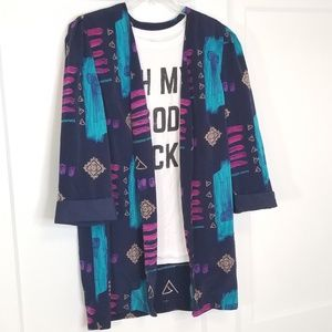 Vintage Oversized Kimono Blazer
